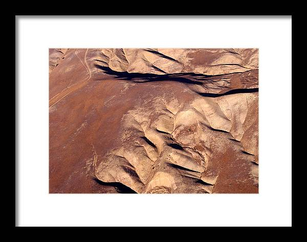 Aerial Photography Framed Print featuring the photograph Earthmarks 3 by Sylvan Adams