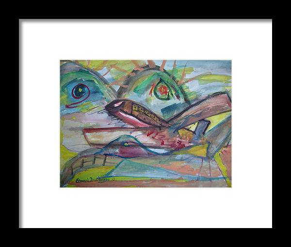 Abstract Framed Print featuring the painting Easey Jet by Edward Burbidge