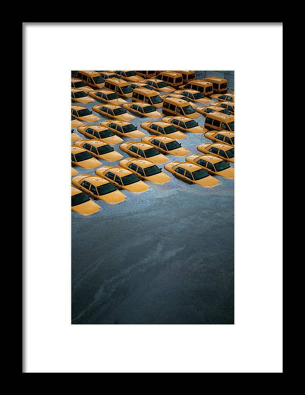 Legacycollection Framed Print featuring the photograph East Coast Begins To Clean Up And by Michael Bocchieri