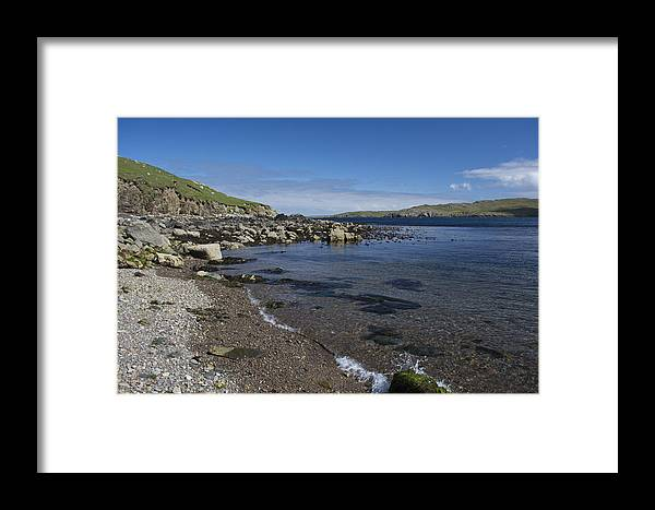Landscape Framed Print featuring the photograph East Lunna Voe by Steve Watson