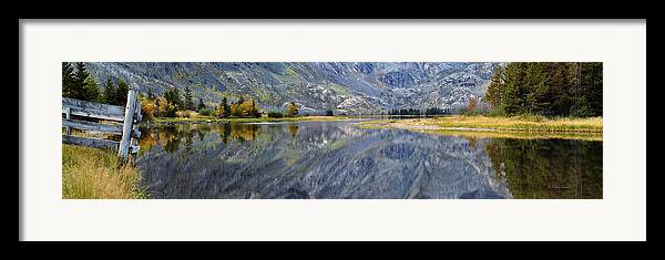 Beautiful Framed Print featuring the photograph East Rosebud Lake Fall Panorama by Roger Snyder