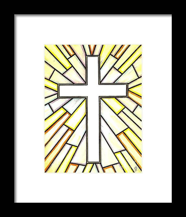 Cross Framed Print featuring the painting Easter Cross 3 by Jim Harris
