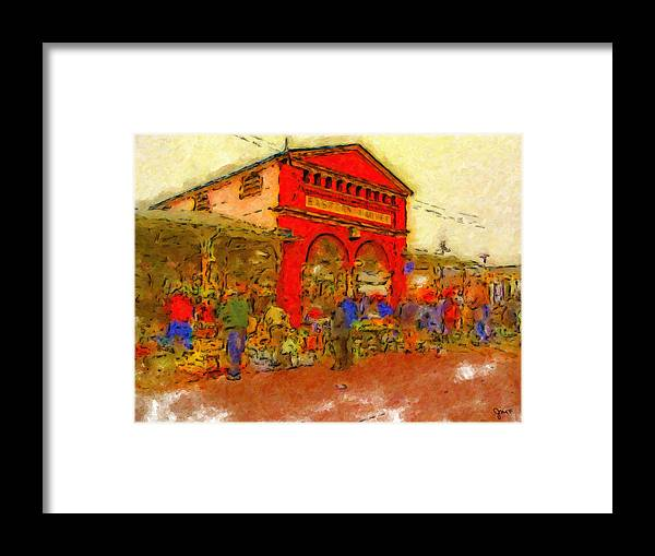 Detroit Framed Print featuring the painting Eastern Market by John Farr