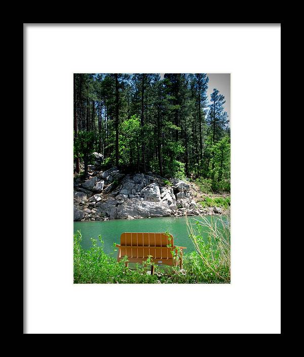 Goldwater Lake Framed Print featuring the photograph Easy Day At The Lake by Aaron Burrows