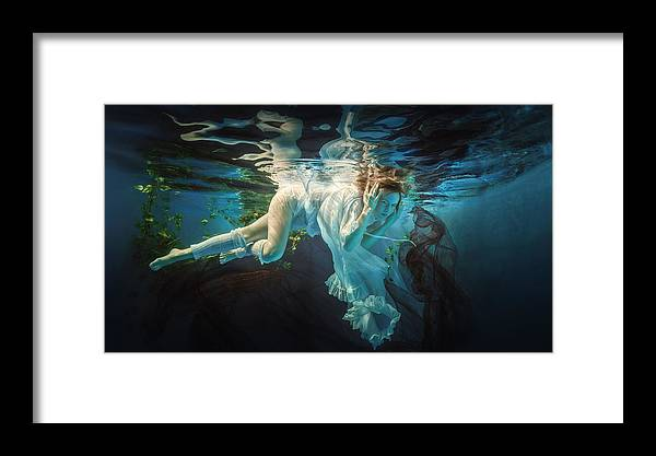 Girl Framed Print featuring the photograph Easy by Dmitry Laudin