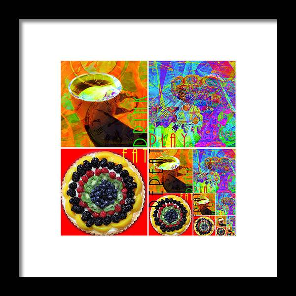 Wingsdomain Framed Print featuring the photograph Eat Drink Play Repeat 20140705 by Wingsdomain Art and Photography