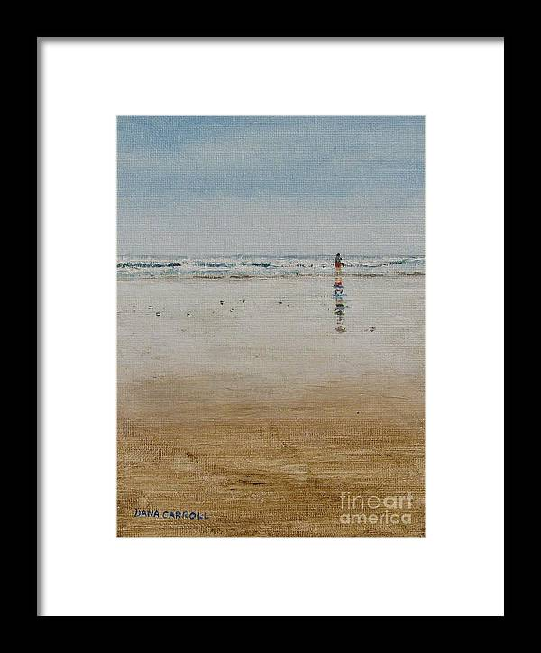 Ocean Framed Print featuring the painting Ebb Tide by Dana Carroll