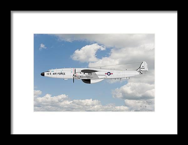 Lockheed Framed Print featuring the digital art Ec-121t Constellation by Arthur Eggers