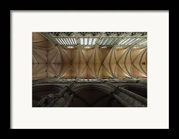 France Framed Print featuring the photograph Ecclesiastical Ceiling No. 1 by Joe Bonita