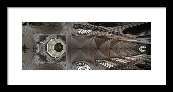 Antwerp Framed Print featuring the photograph Ecclesiastical Ceiling No. 3 by Joe Bonita