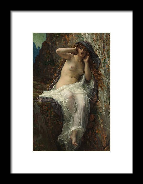 Echo 1887 Framed Print featuring the painting Echo Alexandre Cabanel by Alexandre Cabanel