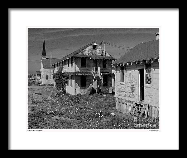 Old Buildings Framed Print featuring the photograph Echoes Fort Ord Ca 2014 by Carla Hamelin