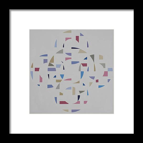 Abstract Geometric Optic Painting Framed Print featuring the painting Ecliptic #2 by Marston A Jaquis