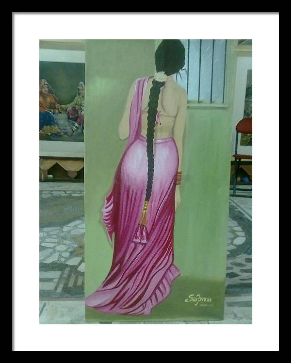 Rain Framed Print featuring the painting Ecstasy by Sapna Mehta