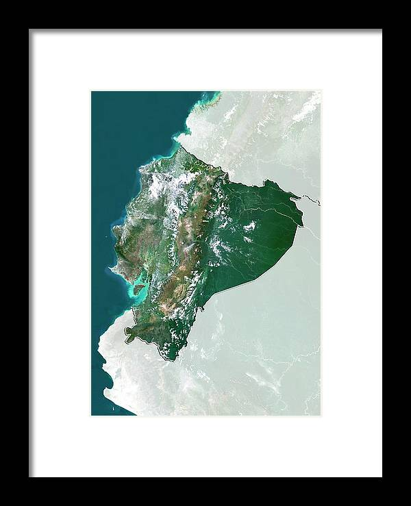 21st Century Framed Print featuring the photograph Ecuador by Planetobserver/science Photo Library
