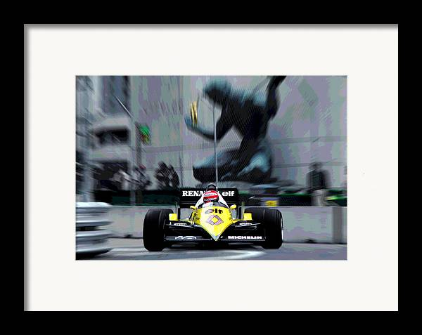 Eddie Cheever Framed Print featuring the photograph Eddie Does Detroit by Mike Flynn