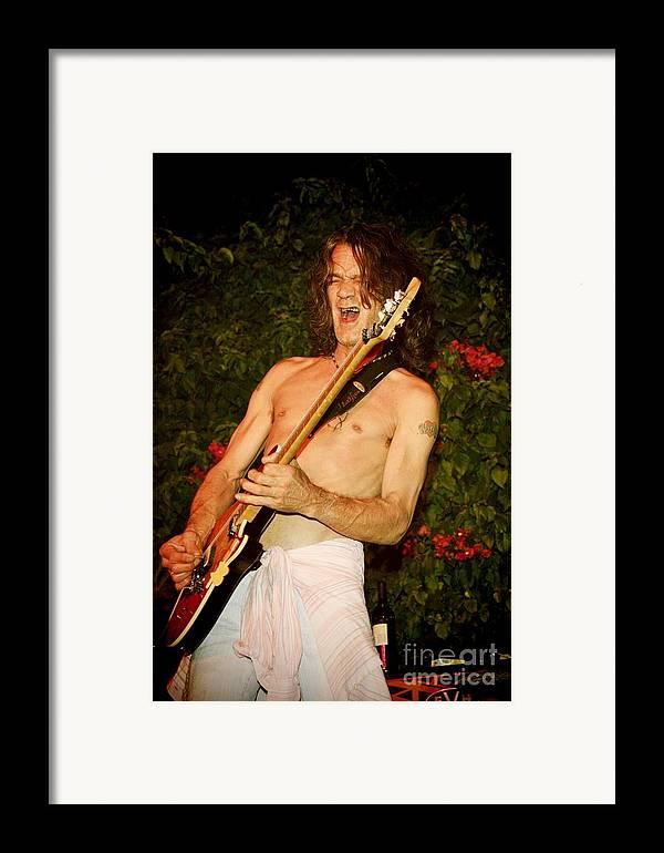 Eddie Van Halen Framed Print featuring the photograph Eddie Van Halen by Nina Prommer