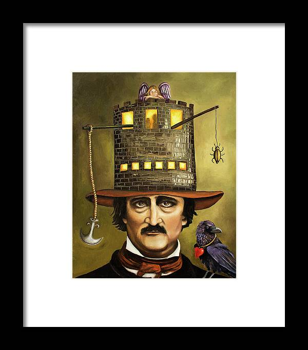 Poe Framed Print featuring the painting Edgar Allan Poe by Leah Saulnier The Painting Maniac