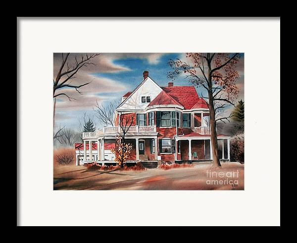 Edgar Home Framed Print featuring the painting Edgar Home by Kip DeVore