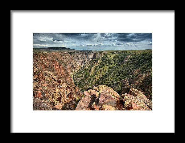 Black Canyon Framed Print featuring the photograph Edge Of The Black Canyon by Adam Jewell