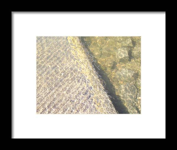 Water Framed Print featuring the photograph Edge Of The Boat Ramp by Terry Cobb