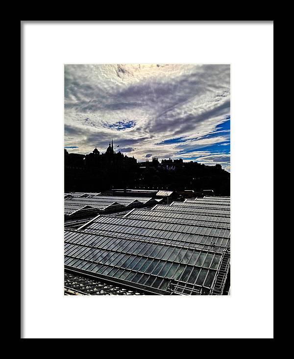 Edinburgh Framed Print featuring the photograph Edinburgh In Silhouette by Karen Bain