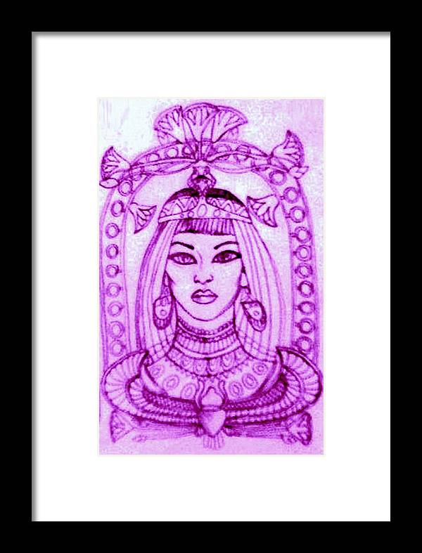 Henna Framed Print featuring the drawing Egypt by Jessica Petty
