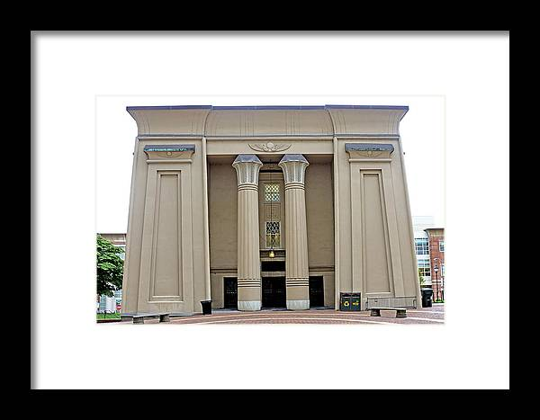 egyptian Building Framed Print featuring the photograph Egyptian Building On Vcu Campus - Richmond Virginia by Brendan Reals