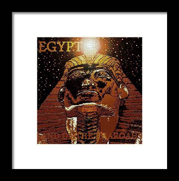 Land Of The Pharaohs Framed Print featuring the painting Land Of The Pharoahs by David Lee Thompson