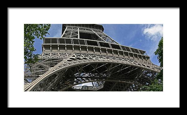 Eiffel Tower Photographs Framed Print featuring the photograph Eiffel Tower First Balcony by Gary Lobdell