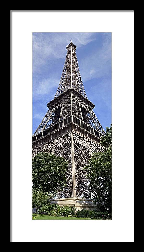 Eiffel Tower Photographs Framed Print featuring the photograph Eiffel Tower by Gary Lobdell