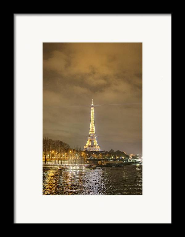 Antique Framed Print featuring the photograph Eiffel Tower - Paris France - 011339 by DC Photographer