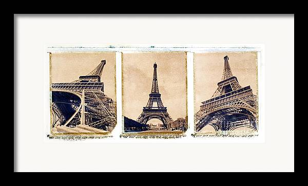 Eiffel. Tower Framed Print featuring the photograph Eiffel Tower by Tony Cordoza