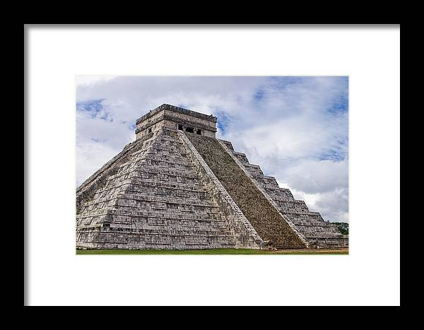 3scape Photos Framed Print featuring the photograph El Castillo by Adam Romanowicz