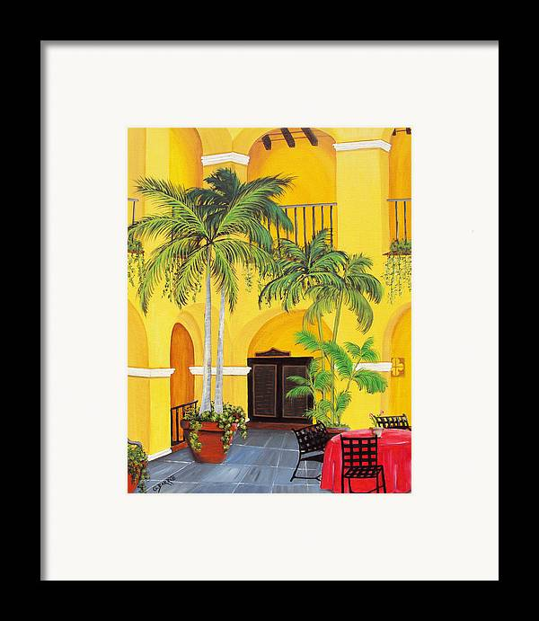Puerto Rico Convent Framed Print featuring the painting El Convento In Old San Juan by Gloria E Barreto-Rodriguez