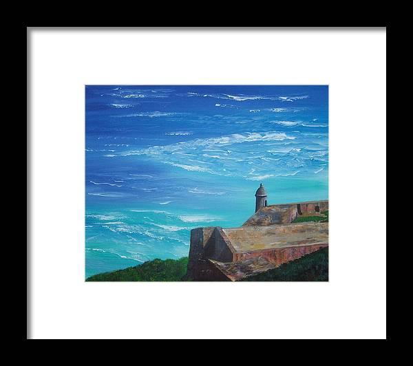 El Morro Ii Framed Print featuring the painting El Morro II by Tony Rodriguez