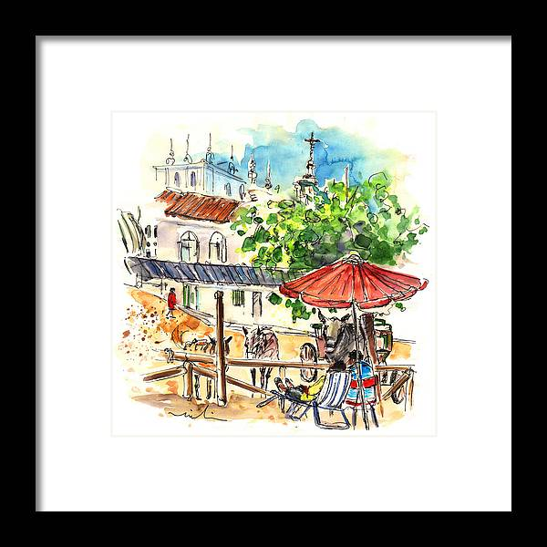 Travel Framed Print featuring the painting El Rocio 01 by Miki De Goodaboom