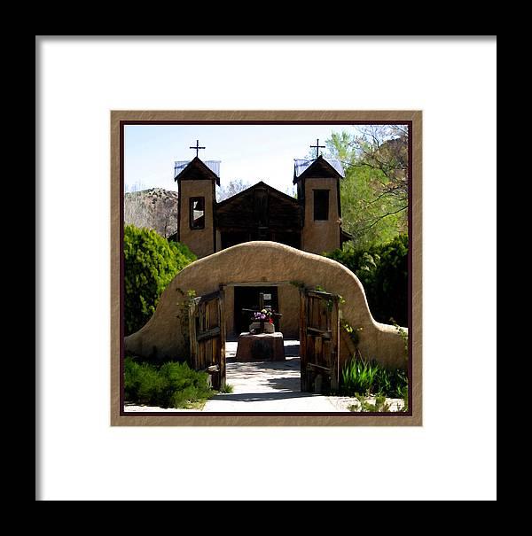 Santuario De Chimayo Framed Print featuring the photograph El Santuario De Chimayo by Kurt Van Wagner