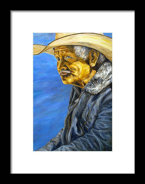 Framed Print featuring the painting El Vaquero Suena by Pat Haley