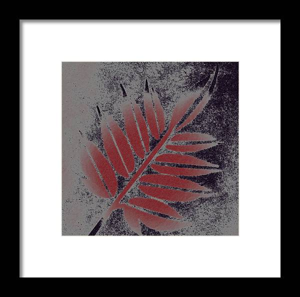 Leaf Framed Print featuring the digital art Elderberry Leaf by Lovina Wright