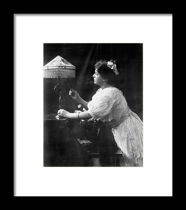 1908 Framed Print featuring the photograph Electric Lamp, 1908 by Granger