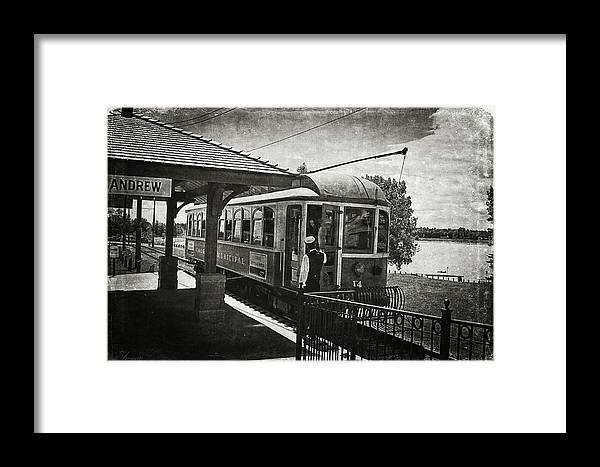 Streetcar Framed Print featuring the photograph Electric Streetcar I by Maria Angelica Maira