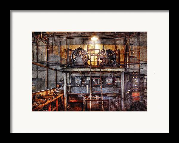 Savad Framed Print featuring the photograph Electrician - Turbine Station by Mike Savad