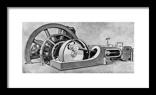1893 Framed Print featuring the drawing Electricity Generator by Granger