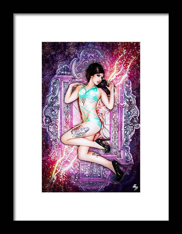 Glamour Framed Print featuring the photograph Electrified Mirror by Sean H Choe