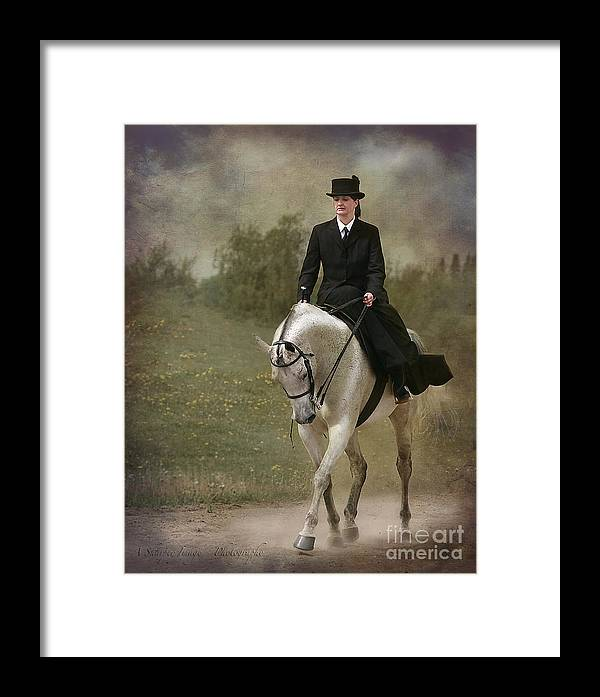 Horse Framed Print featuring the photograph Elegance by Linda Finstad