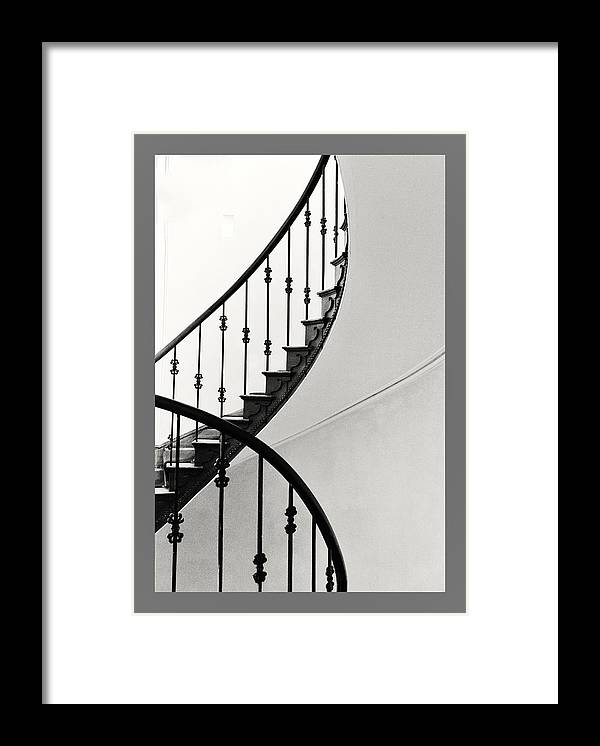 Staircase Framed Print featuring the photograph Elegant Days by Wendy Chapman