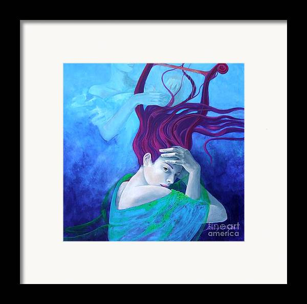 Fantasy Framed Print featuring the painting Elegy by Dorina Costras