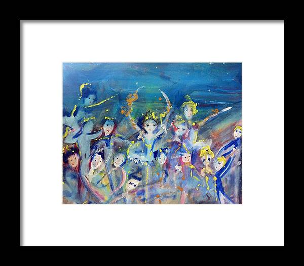 Ballet Framed Print featuring the painting Elementals On The Beach Ballet by Judith Desrosiers