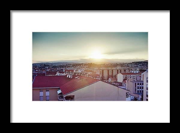 French Riviera Framed Print featuring the photograph Elevated View Of City, Nice, France by Gu